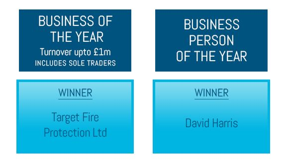Target Fire win at the Rochdale Business Awards