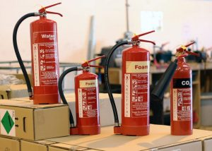 Types of fire extinguishers and their classes